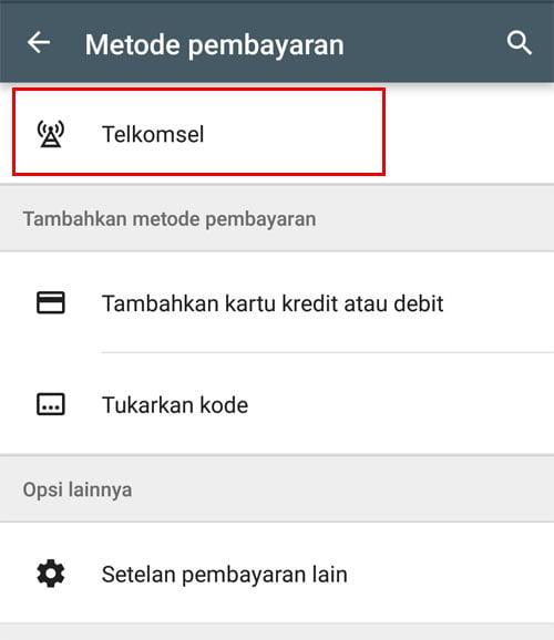 Cara Menambahkan Metode Pembayaran Telkomsel di Google Play Store