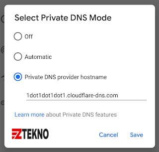 Cara Mengubah DNS di Android 9