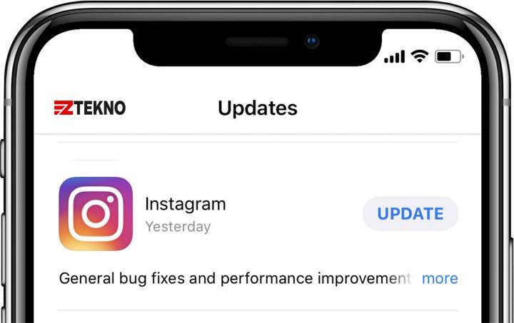 Cara memperbarui Instagram di iPhone