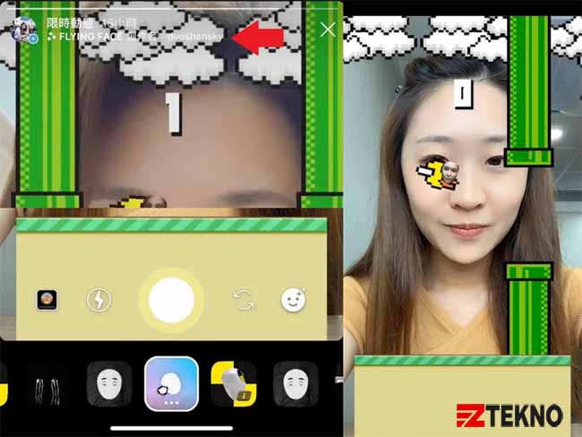 cara main flappy bird di instagram