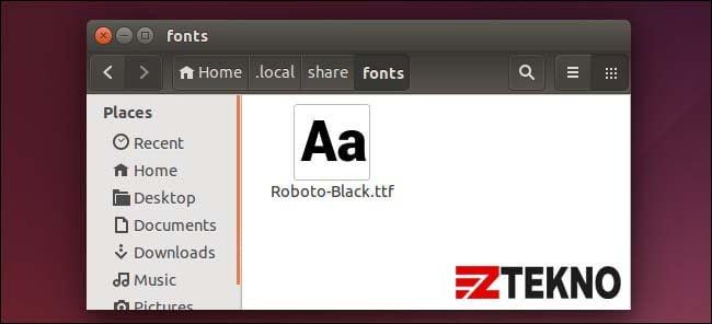 Cara Install Font di Ubuntu
