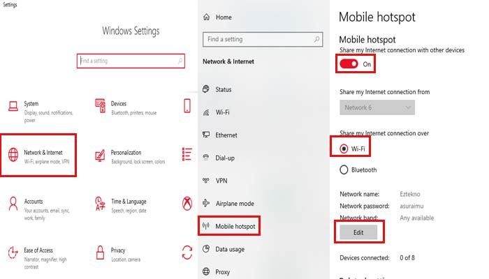 Cara Membuat Hotspot di Windows 10