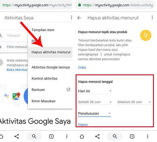 Cara Menghapus History di Google Semua Sekaligus