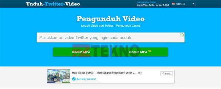 cara download video dari twitter