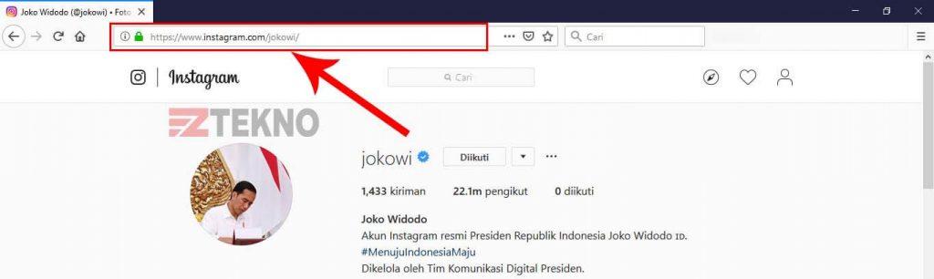 Cara Copy Link di Instagram Menggunakan Komputer
