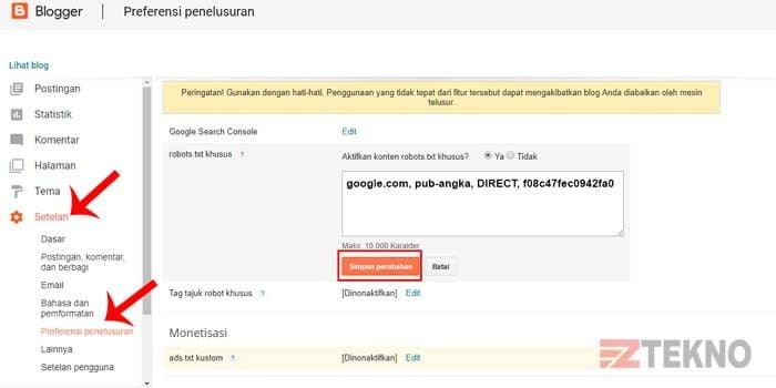 Cara Mengaktifkan Ads txt di Blogger