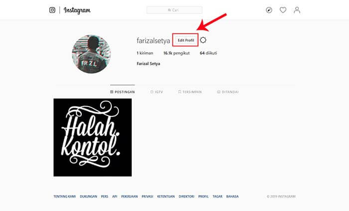 cara ganti password ig di komputer