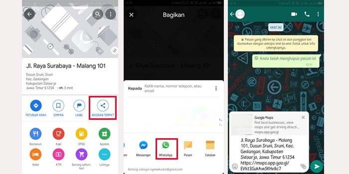 cara share lokasi ke whatsapp