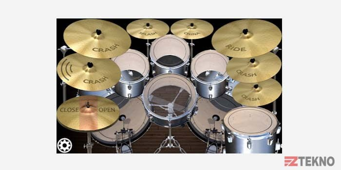 Aplikasi Drum Rock Sederhana