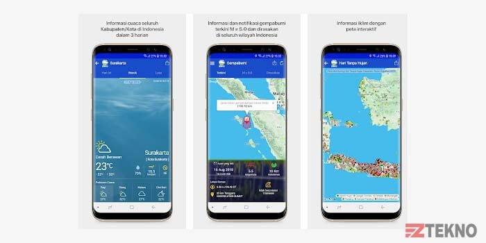 Aplikasi Info BMKG di HP Android