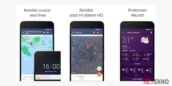 Aplikasi Ramalan Cuaca dan Radar Langsung