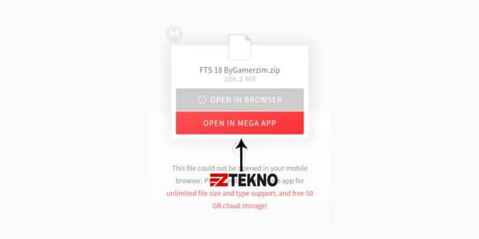 Download File MEGA di HP Android