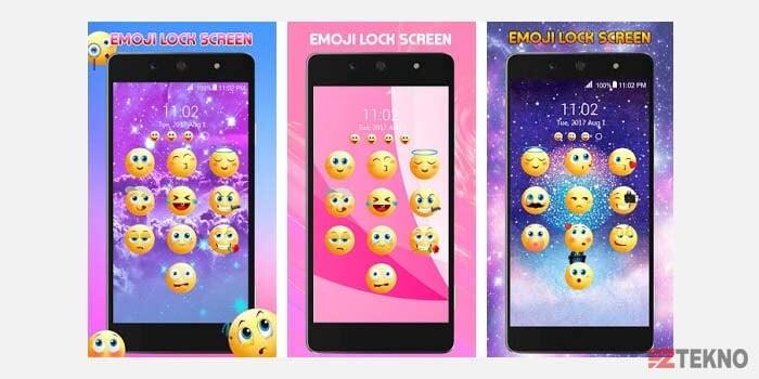 Layar Kunci Emoji Android