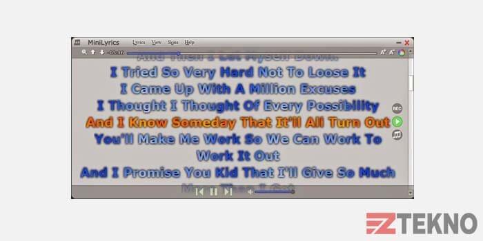 MiniLyrics Aplikasi Karaoke PC