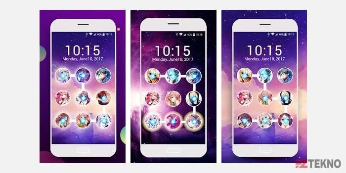 aplikasi kunci layar foto anime android