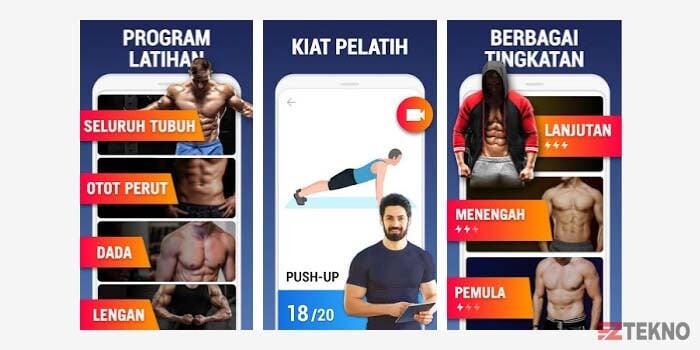 aplikasi latihan rumahan fitness android