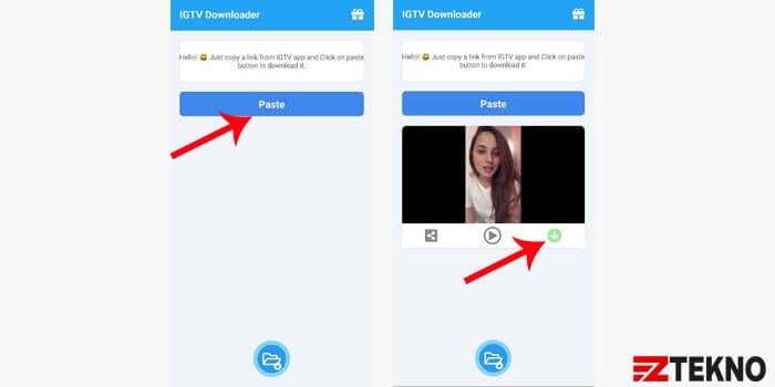 cara download video igtv di hp android
