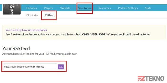 cara membuat rss feed podcast spotify