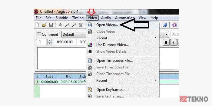 cara membuat subtitle di pc