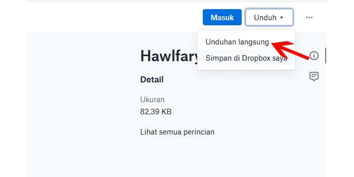 Cara Download File di Dropbox Melalui Laptop PC