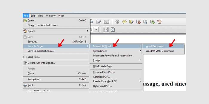 Cara Mengubah PDF ke Word Adobe Acrobat