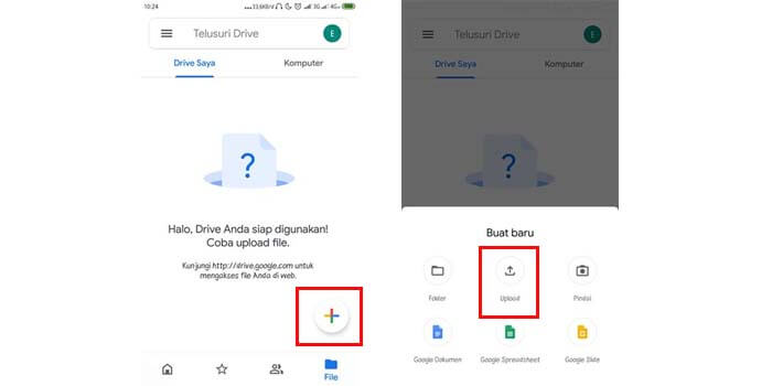 2 Cara Upload File Di Google Drive Share Link Di Pc Hp Android