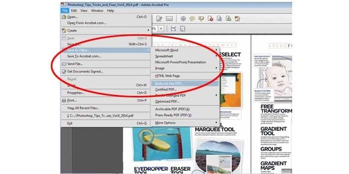 mengecilkan ukuran file pdf offline adobe reader