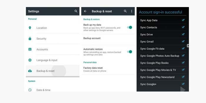 Cara Backup Data Android via Akun Google