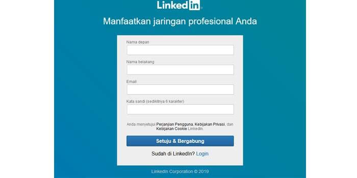 Cara Daftar LinkedIn