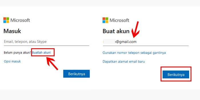 Cara Daftar Microsoft Pakai Gmail dan Yahoo