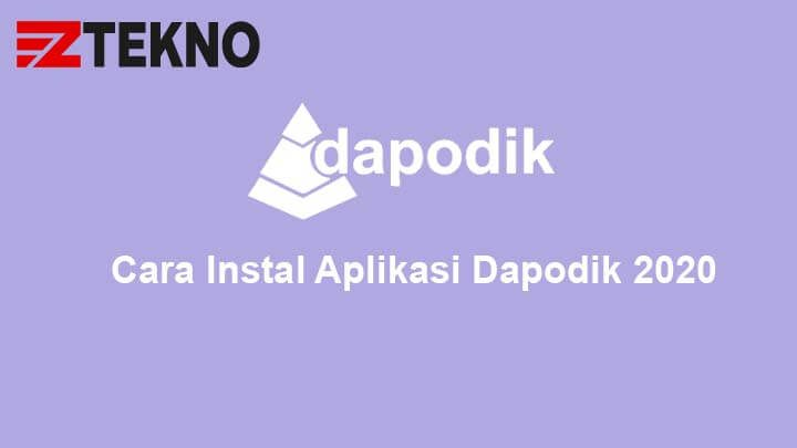 Cara Instal Aplikasi Dapodik