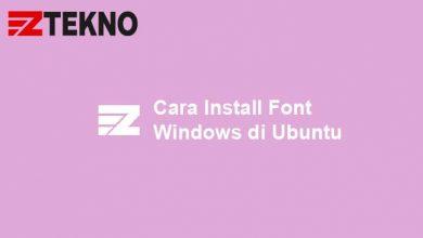 Cara Install Font Windows di Ubuntu