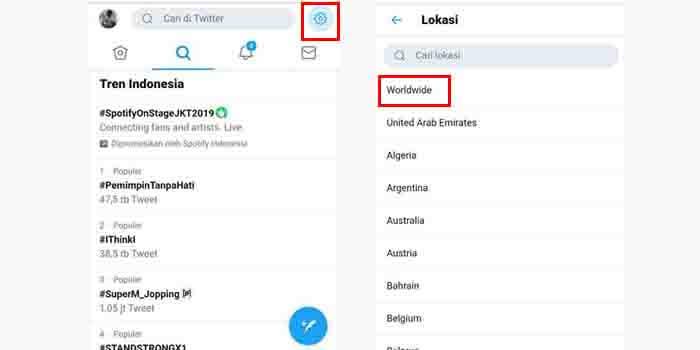 Cara Melihat Trending Topik Twitter Worldwide Dunia