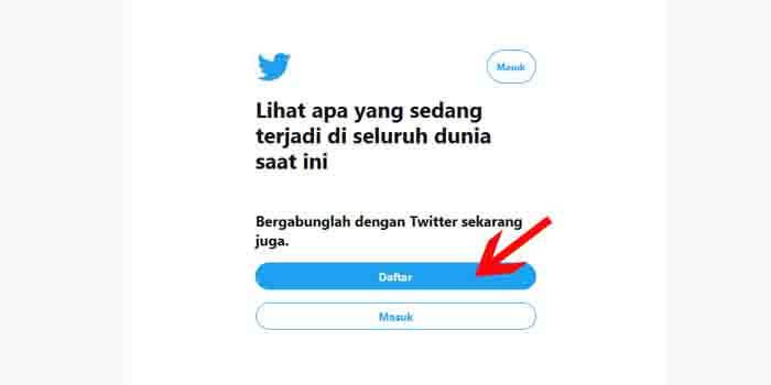 Cara Membuat Akun Twitter di Laptop