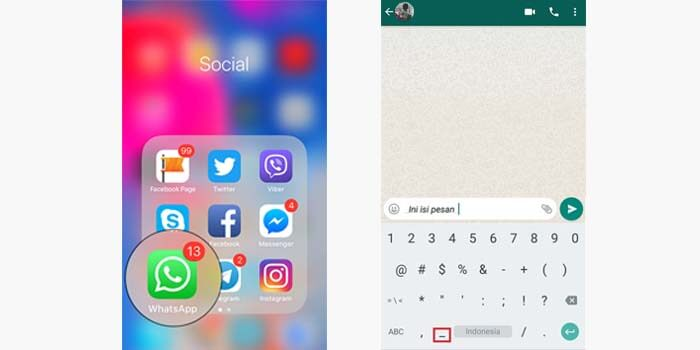 Cara Membuat Tulisan Miring di Whatsapp