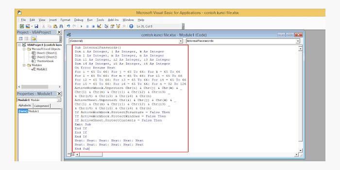 Cara Memunculkan Password File Excel