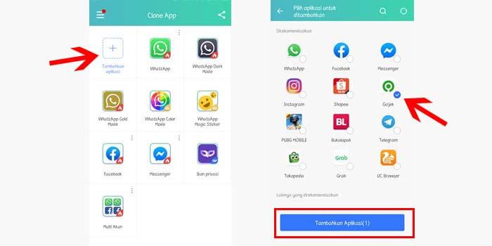 Cara Menggunakan 2 Gojek via Clone App