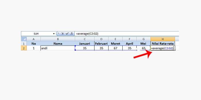 Cara Menghitung Rata Rata di Kolom Excel
