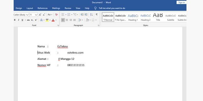 Cara Merapikan Titik Dua MS Word