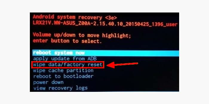 Cara Reset HP Android di Recovery Mode