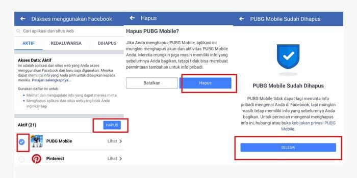 Cara Unbind Akun PUBG Mobile dari Facebook