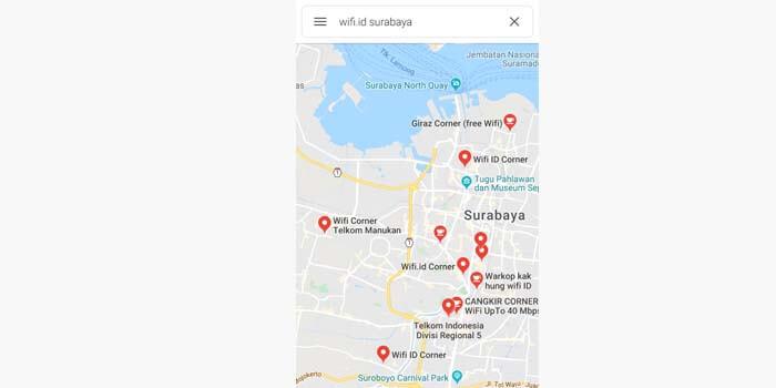 Mencari Lokasi Wifi.id Melalui Google Map
