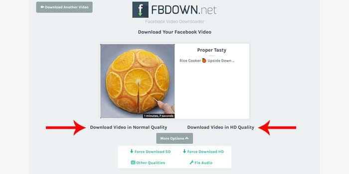 cara download video fb
