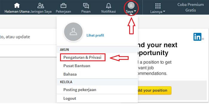 cara tutup akun LinkedIn