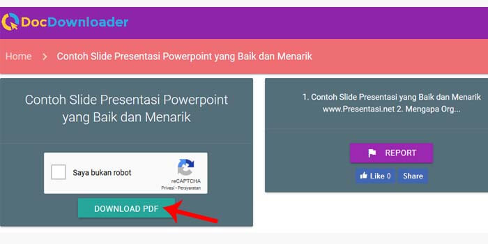 Cara Download Slideshare Generator tanpa login