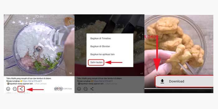 Cara Download Video di Line Timeline