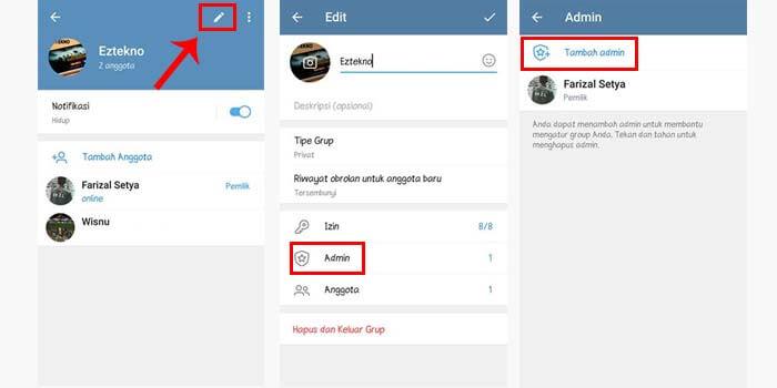 Cara Membuat Admin Baru Grup Telegram