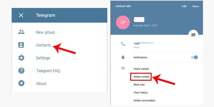 2 Cara Hapus Kontak Telegram Terbaru Lengkap Gambar