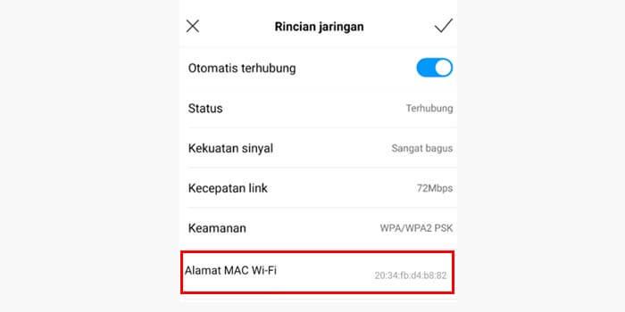 Cara cek MAC Address di HP Android