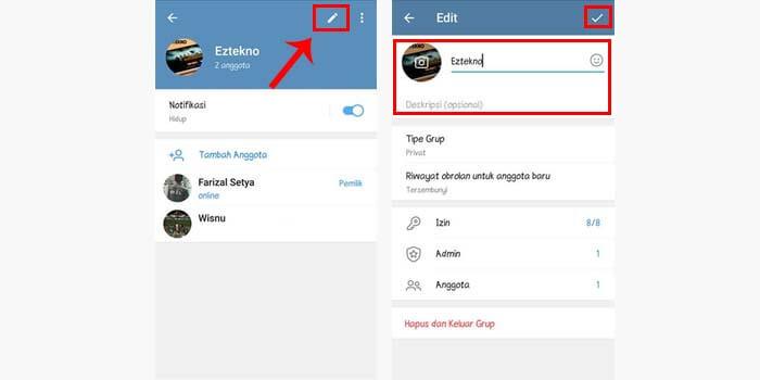 Mengubah Nama dan Foto Grup Telegram